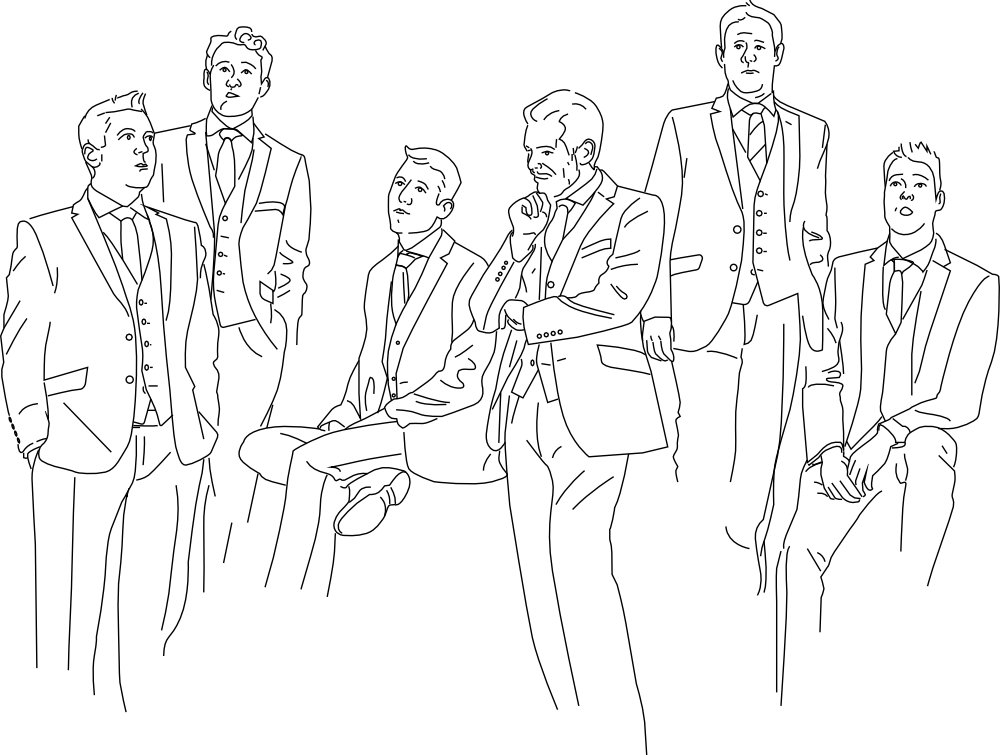 Band line drawing
