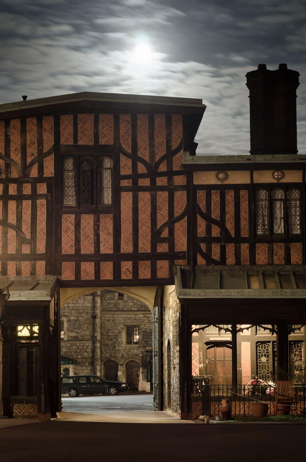 Windsor castle Tudor walls