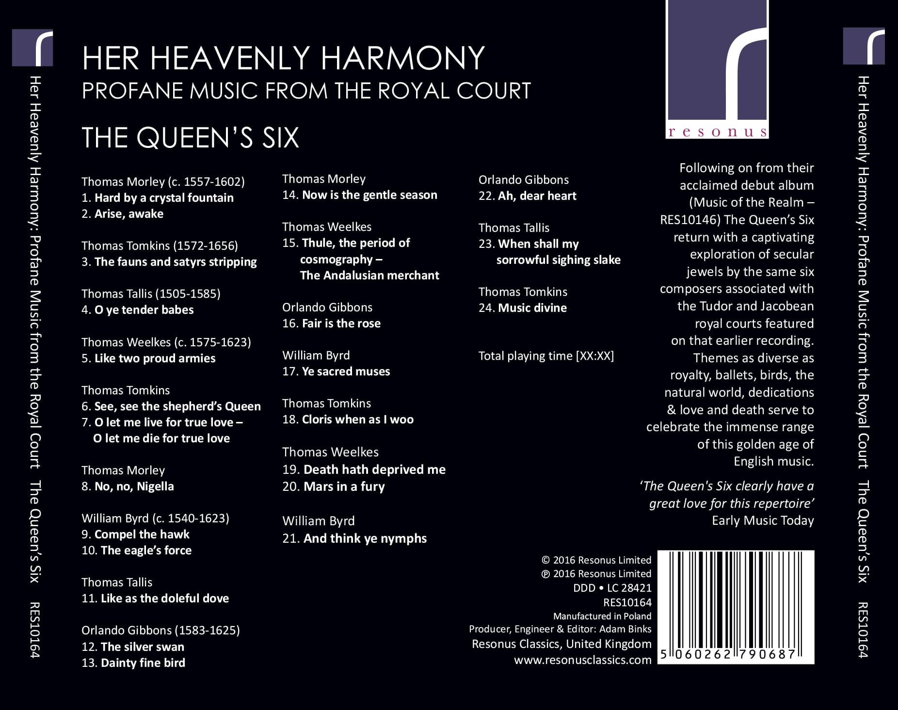 Her Heavenly Harmony album back