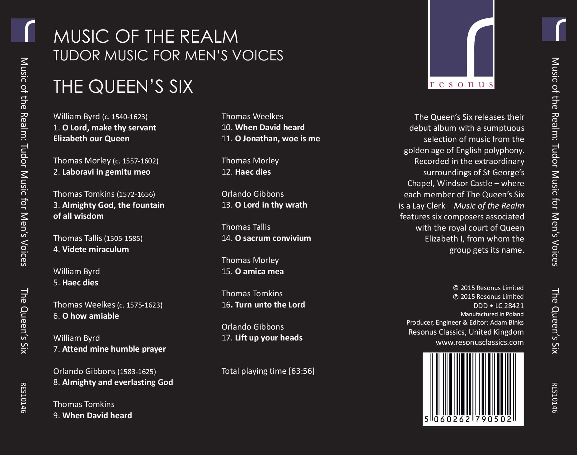 Music Of The Realm album back