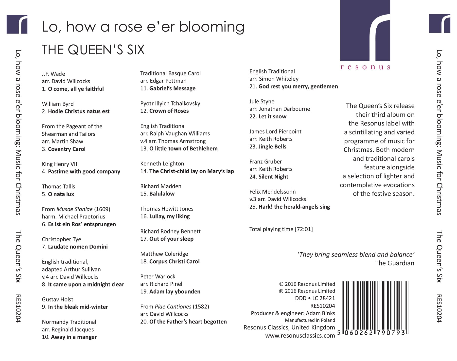 Lo, how a rose e'er blooming album back