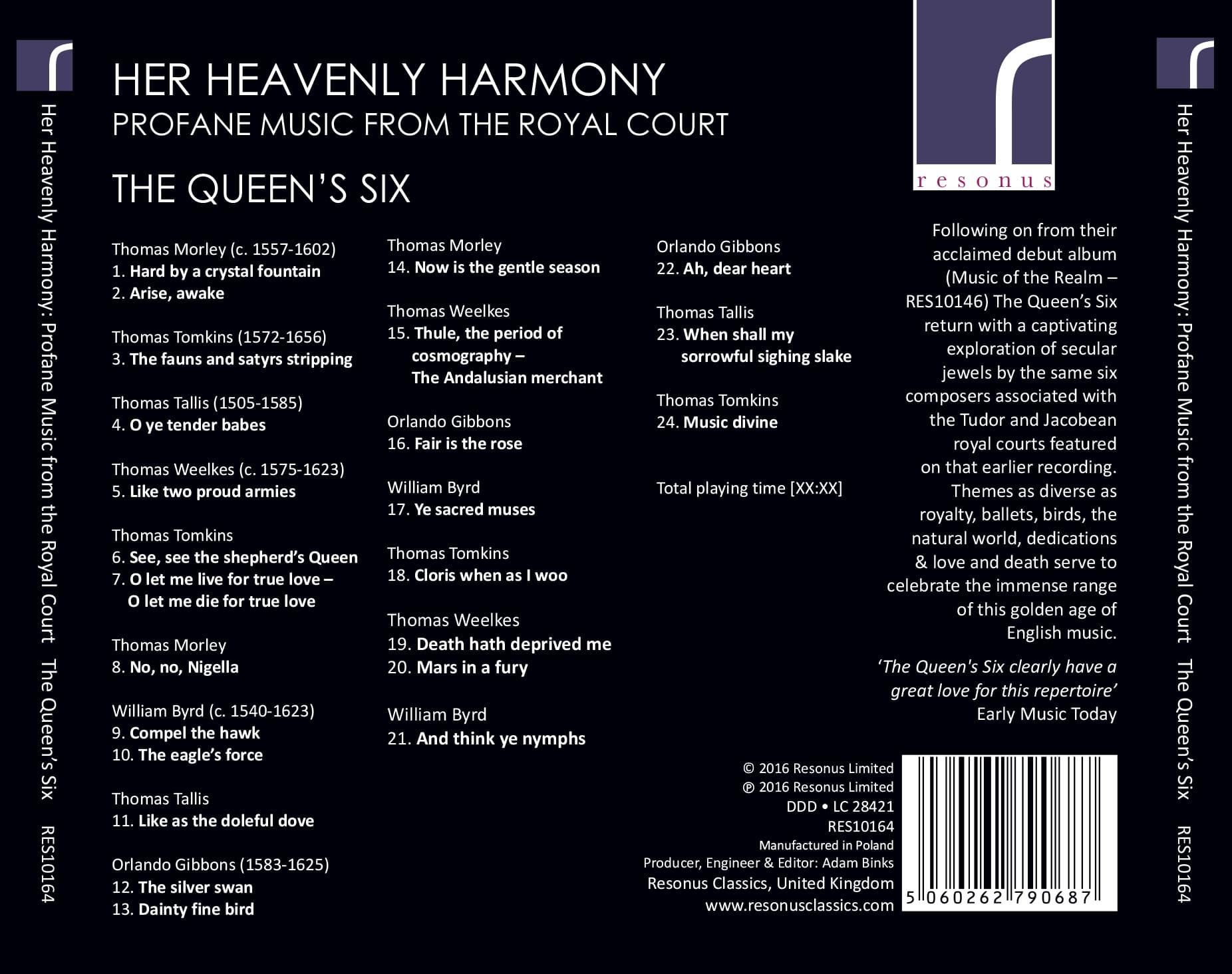 Her Heavenly Harmony album back